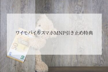 ワイモバイルMNP引き止め特典